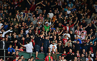 Lincoln City fans enjoy the pre-match atmosphere<br /> <br /> Photographer Chris Vaughan/CameraSport<br /> <br /> The EFL Sky Bet League Two Play Off First Leg - Lincoln City v Exeter City - Saturday 12th May 2018 - Sincil Bank - Lincoln<br /> <br /> World Copyright &copy; 2018 CameraSport. All rights reserved. 43 Linden Ave. Countesthorpe. Leicester. England. LE8 5PG - Tel: +44 (0) 116 277 4147 - admin@camerasport.com - www.camerasport.com