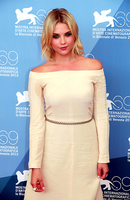 WWW.ACEPIXS.COM....US SALES ONLY....September 5, 2012, Venice, Italy.....Ashley Benson arriving at the photocall for 'Spring Breakers' at the Venice Film Festival on September 5, 2012 in Venice, Italy.........By Line: Famous/ACE Pictures....ACE Pictures, Inc..Tel: 646 769 0430..Email: info@acepixs.com