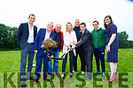 Castleisland AFC Chairman Patrick O'Rourke, and Castleisland Community College acting Principal Theresa Lonergan turn the sod on the new all weather astroturf soccer pitch in Castleisland on Friday evening l-r: Aidan o'Callaghan, Cllr Bobby O'Connell representing Minister Brendan Griffin, Sean Kelly Kelly Farm Moderisation Ltd, Theresa Lonergan, Maurice Casey, Patrick O'Rourke, Aidan Joy and Mairead Corridan