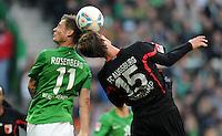 FUSSBALL   1. BUNDESLIGA   SAISON 2011/2012   27. SPIELTAG SV Werder Bremen - FC Augsburg                        24.03.2012 Sebastian Proedl (SV Werder Bremen) gegen Sebastian Langkamp (re, Augsburg)