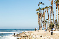 Surfers Point Beach at Seaside Park. Ventura, California.
