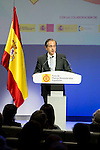 "Antonio Abril during the 6th edition of the collecting badges to the new ambassadors fees ""Marca España"" in his 6th edition at BBVA City in Madrid, November 12, 2015.<br /> (ALTERPHOTOS/BorjaB.Hojas)"