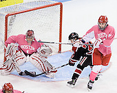 Kerrin Sperry (BU - 1), Kendall Coyne (Northeastern - 77), Kathryn Miller (BU - 4) - The Boston University Terriers defeated the visiting Northeastern University Huskies 3-2 on Saturday, January 28, 2012, at Agganis Arena in Boston, Massachusetts.