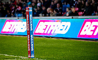Picture by Allan McKenzie/SWpix.com - 26/04/2018 - Rugby League - Betfred Super League - Salford Red Devils v St Helens - AJ Bell Stadium, Salford, England - Betfred, branding.