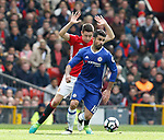 Ander Herrera of Manchester United in action with Diego Costa of Chelsea during the English Premier League match at Old Trafford Stadium, Manchester. Picture date: April 16th 2017. Pic credit should read: Simon Bellis/Sportimage