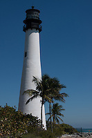 Lighthouse located on Key Biscayne in Florida