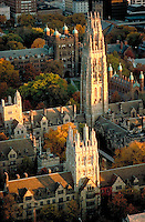 Branford College aerial view, Yale University, New Haven, CT