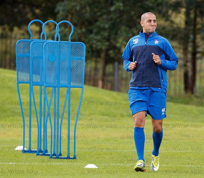Cool guy Madjid Bougherra strutting his stuff in training
