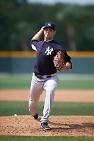 New York Yankees Dillon McNamara (43) during a minor league Spring Training game against the Pittsburgh Pirates on April 1, 2016 at Pirate City in Bradenton, Florida.  (Mike Janes/Four Seam Images)