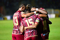IBAGUÉ - COLOMBIA, 07-11-2018: Marco Pérez  jugador del Deportes Tolima  celebra su gol contra el Once Caldas durante partido por la fecha 14 de la Liga Águila II 2018 jugado en el estadio Manuel Murillo Toro de la ciudad de Ibagué./  Marco Pérez   player of Deportes Tolima  celebrates his goal agaisnt of Once Caldas during the match for the date 14 of the Aguila League II 2018 played at Manuel Murillo Toro  stadium in Ibague city. Photo: VizzorImage/ Juan Carlos Escobar / Contribuidor
