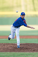AZL Cubs 1 relief pitcher Chi-Feng Lee (39) follows through on his delivery during an Arizona League playoff game against the AZL Rangers at Sloan Park on August 29, 2018 in Mesa, Arizona. The AZL Cubs 1 defeated the AZL Rangers 8-7. (Zachary Lucy/Four Seam Images)