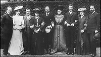 BNPS.co.uk (01202 558833)Pic: TheEurohistoryPhotoArchive/BNPS<br /> <br /> The Hesse family, 1903.<br /> <br /> Left to right: Grand Duke Ernest Ludwig of Hesse, Empress Alexandra<br /> Feodorovna and Tsar Nicholas II of Russia, Princess Irene and her husband Prince Henry of Prussia, Grand Duchess Elisabeth Feodorovna (Ella) and her husband Grand Duke Sergei Alexandrovich of Russia, Princess Victoria and her husband Prince Louis of Battenberg. (The Eurohistory Photo Archive)<br /> <br /> A Russian Grand Duke branded King George V a 'scoundrel' who 'did not lift a finger' to save the Romanov family in the revolution there of 1917, explosive diaries have revealed.<br /> <br /> The cousin of the overthrown Russian Royal family blamed the British King for their executions because he failed to grant them refuge.<br />  <br /> Dmitri Pavlovich no-holds-barred diary extracts have been published for the first time in a new book by respected historian Coryne Hall, To Free The Romanovs.