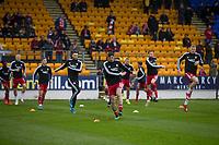 24th November 2019; McDairmid Park, Perth, Perth and Kinross, Scotland; Scottish Premiership Football, St Johnstone versus Aberdeen; Aberdeen warm up before the match - Editorial Use
