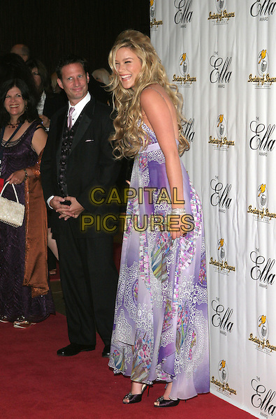 JOSS STONE.Society of Singers 14th Annual Ella Awards Honoring Sir Elton John held at the Beverly Hilton Hotel, Beverly Hills, California.  .October 10th, 2005.Photo Credit: Zach Lipp/AdMedia/Capital Pictures.Ref: ZL/ADM/CAP.full length purple dress laughing.www.capitalpictures.com.sales@capitalpictures.com.© Capital Pictures.