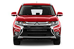 Car photography straight front view of a 2016 Mitsubishi Outlander Intense Premium 5 Door SUV Front View