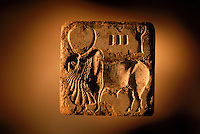 This bull seal dates to around 2450-2200 BC. One of the least common motifs on seals   4,800 years ago, at the same time as the early civilizations of Mesopotamia and Egypt, great cities arose along the flood plains of the Indus and Saraswati (Ghaggar-Hakra) rivers.  Developments at Harappa have pushed the dates back 200 years for this civilization, proving once and for all, that this civilization was not just an offshoot of Mesopotamia..They were a highly organized and very successful civilization.  They built some of the world's first planned cities, created one of the world's first written languages and thrived in an area twice as large as Egypt or Mesopotamia for 900 years (1500 settlements spread over 280,000 square miles on the subcontinent)..There are three major communities--Harappa, Mohenjo Daro, and Dholavira. The town of Harappa flourished during this period because of it's location at the convergence of several trade routes that spanned a 1040 KM swath from the northern mountains to the coast.