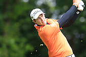 Peter UIHLEIN (USA) drives at the 2nd hole during the final round of the 2015 BMW PGA Championship over the West Course at Wentworth, Virgina Water, London. 24/05/2015<br /> Picture Fran Caffrey, www.golffile.ie: