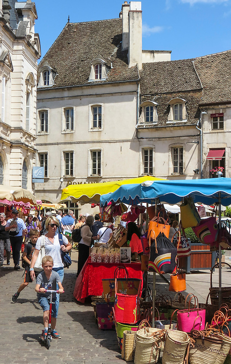 VMI Vincentian Heritage Tour: as Downtown marketplace in the town of Beaune located in southern France Wednesday, June 29, 2016. (DePaul University/Jamie Moncrief)