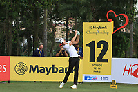 Thomas Detry (BEL) in action on the 12th during Round 2 of the Maybank Championship at the Saujana Golf and Country Club in Kuala Lumpur on Friday 2nd February 2018.<br /> Picture:  Thos Caffrey / www.golffile.ie<br /> <br /> All photo usage must carry mandatory copyright credit (&copy; Golffile | Thos Caffrey)