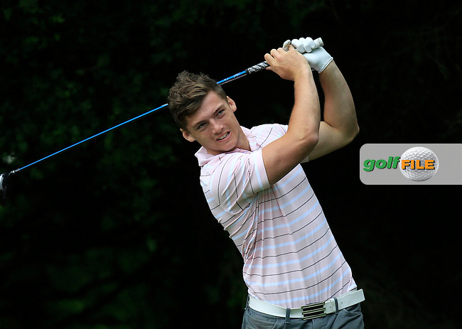 Barry Fitzpatrick (Castle) on the 2nd tee during Round 3 of the Irish Boys Amateur Open Championship at Tuam Golf Club on Thursday 25th June 2015.<br /> Picture:  Thos Caffrey / www.golffile.ie