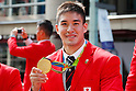 Matthew Baker (JPN),  <br /> OCTOBER 7, 2016 :<br /> Japanese medalists of Rio 2016 Olympic and Paralympic Games wave to spectators during a parade from Ginza to Nihonbashi, Tokyo, Japan.<br /> (Photo by Yohei Osada/AFLO SPORT)