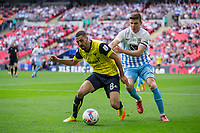Liam Sercombe of Oxford United & Chris Stokes of Coventry City during the The Checkatrade Trophy / EFL Trophy FINAL match between Oxford United and Coventry City at Wembley Stadium, London, England on 2 April 2017. Photo by Andy Rowland.