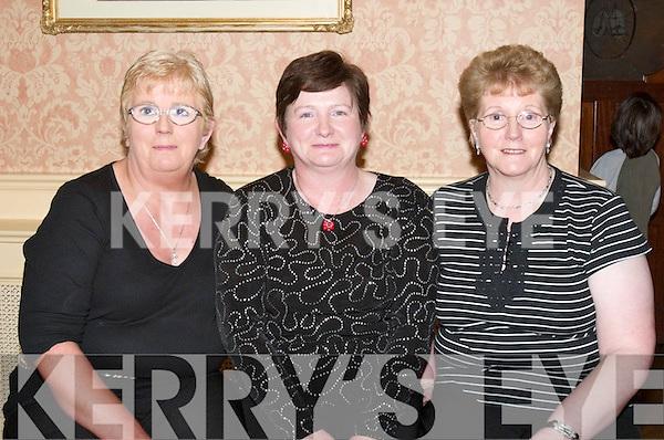 ENJOYING: Enjoying the North Kerry Pioneer Social at Kirbys Lanterns Hotel, Tarbert, on Friday night were f