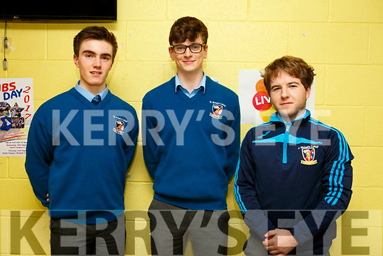 KERRY SCIENCE: Students from  St. Michael's College, Listowel who participated in the Senior science quiz at Tralee IT on Thursday evening pictured here are  l-r Daniel Sheehan, Donal Hunt and Eddie Kelly