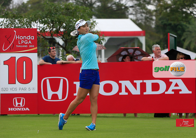So Yeon Ryu (KOR) on the 10th tee during Round 2 of the Honda LPGA at the Siam Country Club Old Course in Pattaya on Friday 27th February 2015.<br /> Picture:  Thos Caffrey / www.golffile.ie