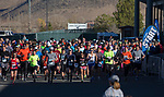 Runners start the Run with the Girls event at Damonte Ranch High School on Sunday, Nov. 5, 2017.