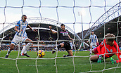 17th March 2018, The John Smiths Stadium, Huddersfield, England; EPL Premier League football, Huddersfield Town versus Crystal Palace; James Tomkins of Crystal Palace scores in the 23rd minute beating Jonas Lossl and Mathias Zanka Jorgensen of Huddersfield Town to a rebound to make it 0-1