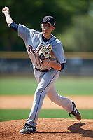 Detroit Tigers pitcher Dylan Stock (21) during a Minor League Spring Training game against the New York Yankees on March 21, 2018 at the New York Yankees Minor League Complex in Tampa, Florida.  (Mike Janes/Four Seam Images)