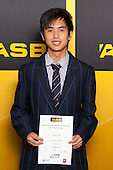 Badminton Boys winner Samuel Ho from Macleans College. ASB College Sport Young Sportsperson of the Year Awards held at Eden Park, Auckland, on November 24th 2011.