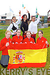The Spanish Connection: Spanish teachers back row l-r: Silvia Seville, Sandra Villena and  Laura Garcia who are teaching in Holy Cross NS in Killarney and Spanish student Maria Sanchez who is a pupil in the school front row l-r: Mairead Joy, Ciara Cotter, Fianait O'Donoghue and Maria Sanchez..