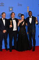 LOS ANGELES, CA. January 06, 2019: Viggo Mortensen, Peter Farrelly, Linda Cardellini & Mahershala Ali at the 2019 Golden Globe Awards at the Beverly Hilton Hotel.<br /> Picture: Paul Smith/Featureflash