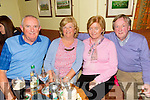 Enjoying the Fundraising Quiz night in aid of Amy at the Na Gaeil Clubhouse on Thursday were Richard Boylan, Jacinta Boylan, Marian Dore and Nelius Dore