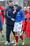 Jim Stewart with Fraser Aird at the end