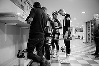 Tim Wellens (BEL/Lotto-Soudal) weighing himself after 5 hours of training<br /> <br /> Team Lotto-Soudal <br /> 2016 pre-season training camp<br /> <br /> Mallorca, december 2015