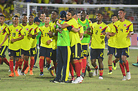 BARRANQUILLA - COLOMBIA, 31-07-2018:Colombia ganó la medalla de oro en fútbol al vencer a Venezuela dos goles por uno en el estadio Romelio Martínez.Juegos Centroamericanos y del Caribe Barranquilla 2018. / Colombia won the gold medal by winning Venezuela two goals for one at the Romelio Martínez stadium during the American and Caribbean Sports Games Barranquilla 2018. Photo: VizzorImage /  Alfonso Cervantes /Contribuidor