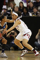 SACRAMENTO, CA - MARCH 29: Rosalyn Gold-Onwude during Stanford's 55-53 win over Xavier in the NCAA Women's Basketball Championship Elite Eight on March 29, 2010 at Arco Arena in Sacramento, California.