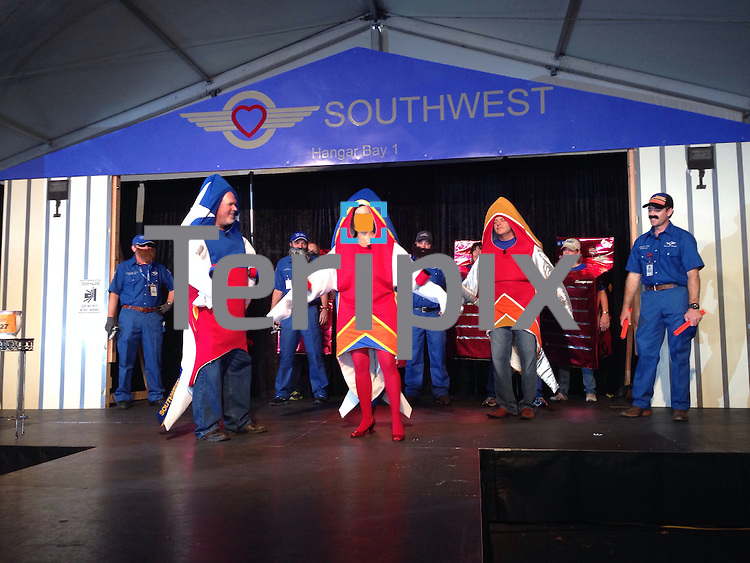 during Southwest Airlines' The Spirit of  Halloween show on Thursday, Oct. 31, 2014 at the company headquarters in Dallas, Texas.