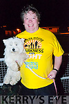 Darkness into Light - Listowel: Pictured prior to the start of the Darkness into Light walk at Listowel race course on Saturday morning last were Listowel business man Dominick Moloney and his dog Missy.