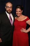 Alexander Gemignani and Lindsay Mendez attends the Opening Night After Party for 'Carousel' at the Cipriano 25 on April 12, 2018 in New York City.