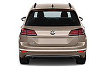 Straight rear view of a 2018 Volkswagen Golf Sportsvan Comfort Line  5 Door MPV stock images