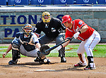 29 May 2011: Washington Nationals catcher Wilson Ramos lays down a bunt against the San Diego Padres at Nationals Park in Washington, District of Columbia. The Padres defeated the Nationals 5-4 to take the rubber match of their 3-game series. Mandatory Credit: Ed Wolfstein Photo