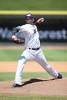 Winston-Salem Dash starting pitcher Jordan Guerrero (23) in action against the Lynchburg Hillcats at BB&T Ballpark on August 2, 2015 in Winston-Salem, North Carolina.  The Hillcats defeated the Dash 8-3.  (Brian Westerholt/Four Seam Images)