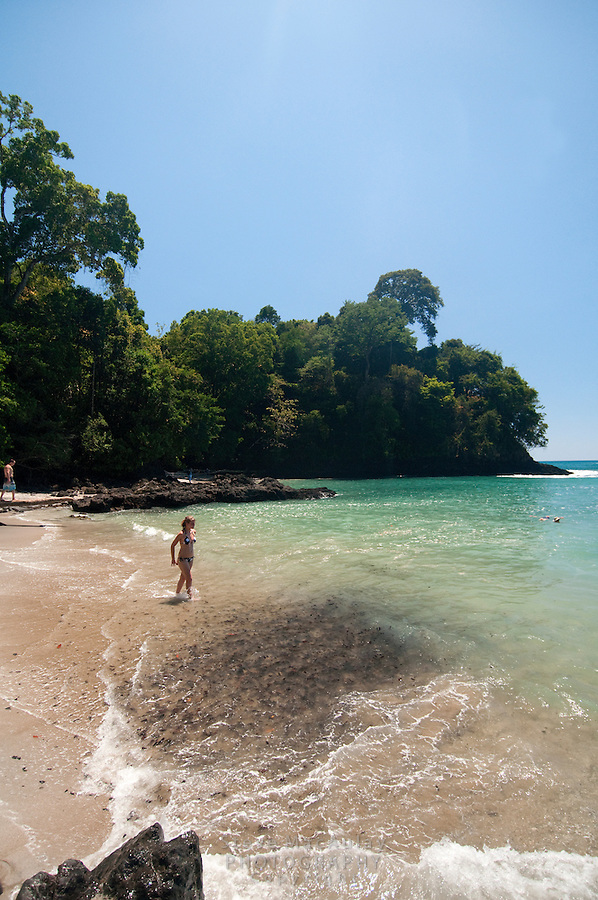 Beach scene at Manuel Antonio National Park, Costa Rica