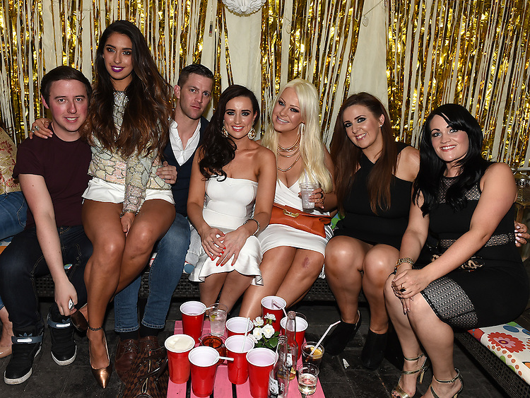 Emma Lynch celebrating her 30th birthday in D'Vine with friends. Photo:Colin Bell/pressphotos.ie