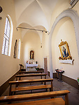 Nave of the Church of the Madonna dei Lumi, San Gimignano, Siena-Tuscano, Italy