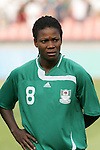 12 August 2008: Ifeanyi Chiejine (NGA).  The women's Olympic team of Brazil defeated the women's Olympic soccer team of Nigeria 3-1 at Beijing Workers' Stadium in Beijing, China in a Group F round-robin match in the Women's Olympic Football competition.